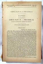 1876 VIRGINIA Contested Election 2nd Congressional Dist. – Platt vs. John Goode