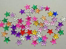 2000 Mixed Color Acrylic Flatback Tiny Star Rhinestone Gem 6mm DIY Embellishment