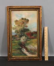 Antique 1925 W.M. Burdick American Impressionist Pastel Landscape Pastel Drawing