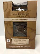 New In Box Unopened ElectrIc Wax Melt Warmer Brown Ceramic Cross Design
