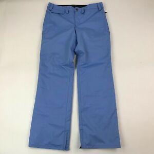 "Volcom Snow Women Sky Blue Nylon Snowboard Pants sz L (Actual 34x33"")"