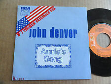 "DISQUE 45T DE JOHN DENVER   "" ANNIE'S SONG """