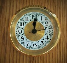 """Quartz  2 7/8""""ths  Brushed Gold /  Insert Clock Fit-Up Mechanism /  Made in USA"""