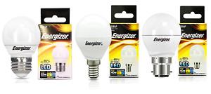 Packs of Energizer 3.4w = 25w 5.9w = 40w LED Golf Ball Bulbs, Opal ES / BC / SES