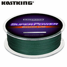 KastKing SuperPower 50 lb test Braided Fishing line 547 yds (500M) - Moss Green