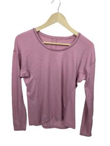 Lululemon Pink Striped Burnout Long Sleeve Top Pima Cotton Thumb Women's Size 8?