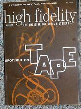 AUGUST 1963 HIGH FIDELITY magazine