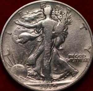 1919-D Denver Mint Silver Walking Liberty Half