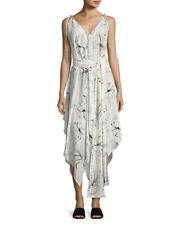 Diane von Furstenberg New Scarf Hem Silk Midi Dress Pelier Ivory White Size M