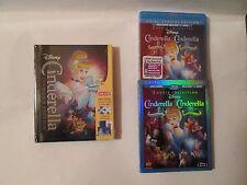 Cinderella Digibook+:Cinderella II:Cinderella III: (Blu-ray/DVD) OOP New Disney