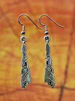 Pewter Viking Dragon Earrings