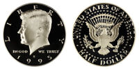 1995 S Proof Kennedy Half Dollar , Clad US Coin , Gem Deep Cameo! FREE SHIPPING!