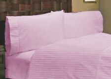 Attached Waterbed Sheet Set 100% Cotton 1000 TC All Size Pink  Stripe