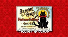 BLACK CAT FORTUNE TELLING GAME DEBIT CREDIT BUSINESS CARD ID HOLDER CASE