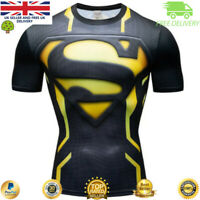 Mens Compression Armour Base Layer Gym Top Superhero Running Cross Fit Cosplay
