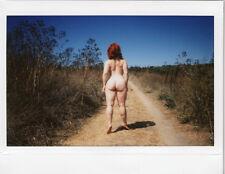 OOAK Original Instax Wide Polaroid Photo - Nude Woman Redhead Outdoor Nature