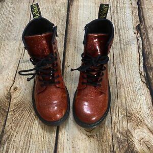 Dr. Martens Red Glitter 1460 Boots Size Women's 5/Men's 4/EUR 36