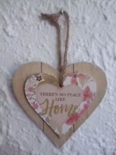 """""""There's No Place Like HOME"""" Shabby Chic Wooden Wall Plaque"""