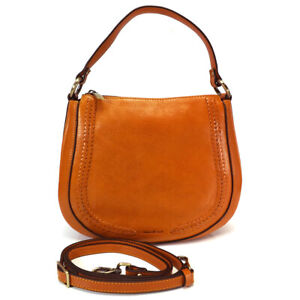 Gianni Conti Zip Top Leather Shoulder Bag - Style: 9416132- Light Tan - BNWT
