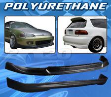 FOR HONDA CIVIC 92-95 3D SPORT STYLE FRONT REAR BUMPER LIP BODY KIT POLYURETHANE