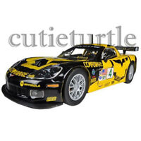 Bburago 2005 Chevrolet Corvette C6R #4 1:24 Diecast Model Toy Car 24003 Yellow