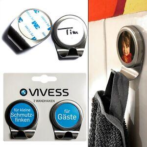 2 Foto Handtuch-Haken,individuell gestalten,selbstklebend Wandhaken ohne Bohren