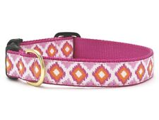 Dog Puppy - Designer Collar - Up Country - Made in USA - Pink Crush - Med Wide