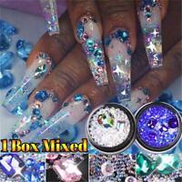 für Nägel AB Flachglas Dekor für Maniküre NagelRhinstone Steine der Kristalle