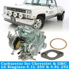 Replace Carburetor Carb 1 BBL For Chevy & GMC L6 250 & 292 W/Choke Thermostat