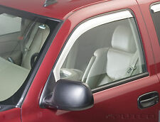 Chrome Trim Window Visors Fits 2002-2006 Chevrolet Avalanche (Front Only)
