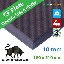 Plaque en fibres de carbone 10mm [Satin lisse des deux côtés] 160x210x10mm