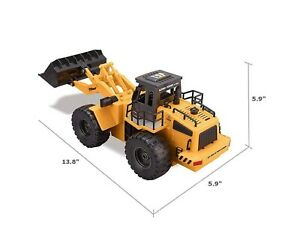 Top Race 6 Channel Full Functional Front Loader, RC Remote Control Construction