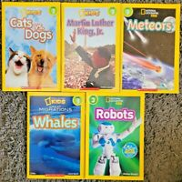 NATIONAL GEOGRAPHIC KIDS LEVEL 3 CHILDRENS READERS BOOKS LOT 5 PB HOMESCHOOL