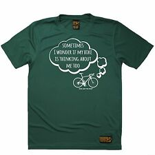 I Wonder If My Bike Is Thinking About Me Too Sports T-SHIRT Cycling Birthday