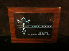 Rare 1984 ELF SUMMER SERIES 2nd PLACE WALL PLAQUE Old School BMX Trophy Second