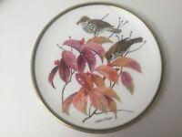 "Franklin Porcelain National Audubon Songbirds of the World ""Wood Thrush"" Plate"