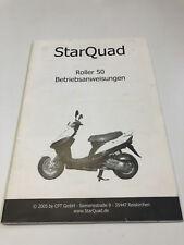 StarQuad 50ccm³ Bedienungsanleitung / Fahrerhandbuch (2005)