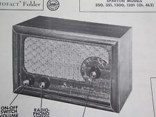 SPARTON 350, 351, 1300, & 1301 RADIO PHOTOFACT