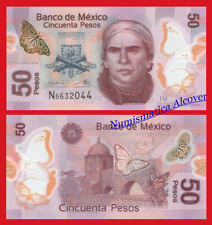 MEJICO CIUDAD MEXICO 50 Pesos 2016 2018 Polymer Pick New  SC  / UNC