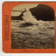 Stereoview Niagara River Whirlpool 1870s George E Curtis Niagara Falls Photo