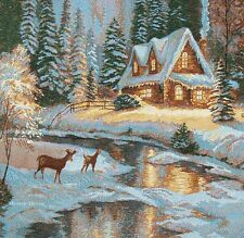 """20"""" DECORATIVE TAPESTRY PILLOW COVER Deer Creek Cottage CUSHION LANDSCAPE ACCENT"""