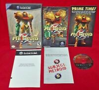 Metroid Prime - Nintendo GameCube Game Complete 1 Owner Mint Disc NGC CIB