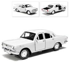 GAZ 24 Volga Metal Model Diecast Car Scale, Collectible Toy Cars, White, 1/36