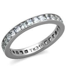 Princess Diamond Stainless Steel Costume Rings