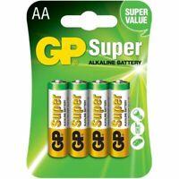 GP SUPER Pile Batterie Stilo Alkaline Alcalina 1,5V AA LR6 Telecomandi 4 pezzi
