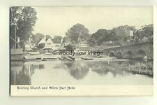 tp4783 - Berkshire - Sonning Church and the White Hart Hotel   - Postcard