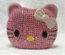 Pink KITTY CAT Luxury Handmade Austrian Evening Bag Clutch Bag
