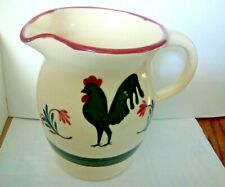 rooster pitcher 6in pottery