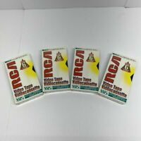 4 New Sealed RCA VHS Tapes T-120H Standard Grade 6 Hours Unopened