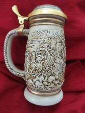 The GOLD RUSH STEIN by Avon 1987 serial # 122580 Handcrafted in Brazil  XLNT Con